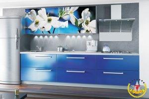 Кухня Фотопечать синяя
