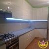 Кухня угловая белая глянец под заказ
