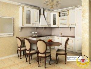 кухня Версаль МДФ патина золото